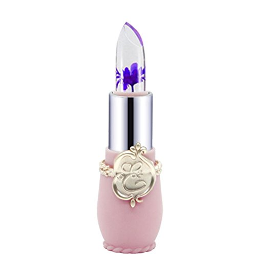 Tefamore Beauty Bright Flower Crystal Jelly Lipstick Magic Temperature Change Color Lip (B)