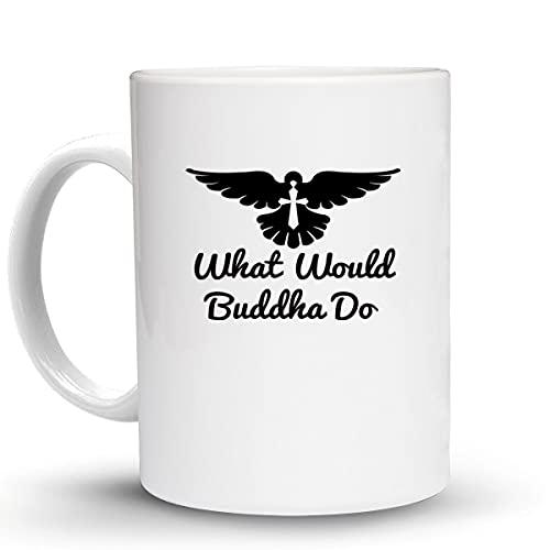 Press Fans - WHAT WOULD BUDDHA DO Christian Chirist 11 Oz Ceramic Coffee Mug, z80