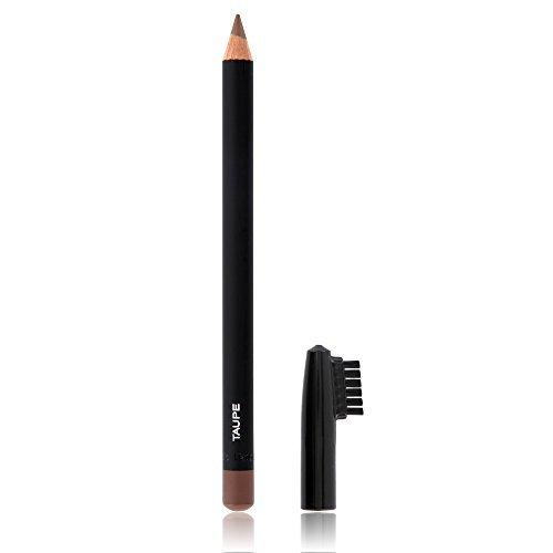 Crayon pour sourcils professionnel pour un look parfait, couvercle avait brosse, couleur taupe