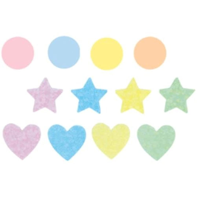 セントトークンほのかクリアシール パステルカラー 星(1×1cm) 135-717