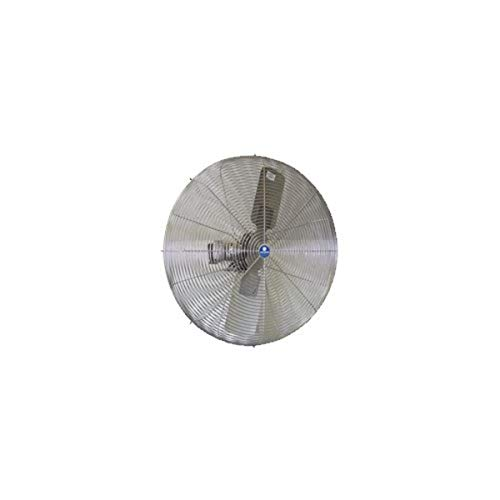 SCHAEFER 30CFO-SWDS Washdown Duty Fan, All Stainless Steel Motor, Stainless Steel OSHA Guards and Blade, Blade Material: Stainless Steel, 1/2 hp, 30'