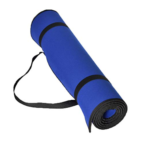 LIMUZI Portable Yoga Mat, Exercise Mat Pilates Sit-Ups Stretching Home Gym met Verband en Carry Strap-voor iedereen Binnen Buitenshuis