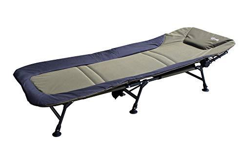 CarpOn Angelliege Karpfenliege bis 150 kg belastbar Bedchair Liege Gartenliege Campingbed Outdoor Bett Camping 210 cm Lang