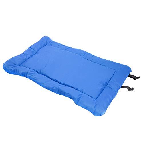 Amuzocity Cojín Plegable Suave del Cojín del Colchón del Perro de La Estera de La Almohada del Animal Doméstico de La Cama del Perro - Azul