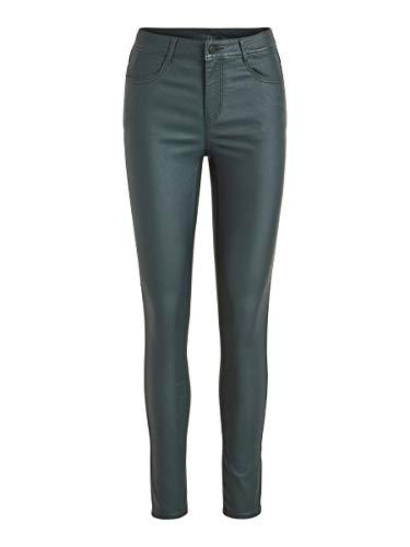 Vila Clothes Vicommit RW New Coated Pantalones, Verde (Pine Grove), W25 (Talla del Fabricante: X-Small) para Mujer