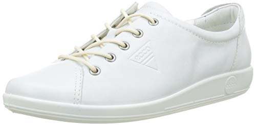 Ecco Damen SOFT2.0 Derby, Weiß (1007WHITE), 38 EU