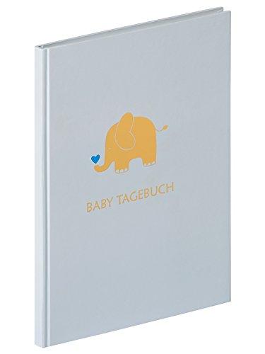 walther design TB-148-L Tagebuch Baby Animal, Blau, 20x28 cm