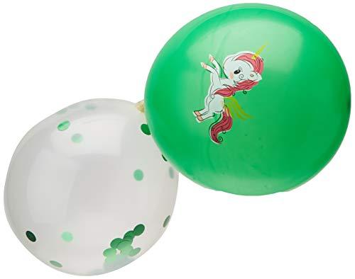 KAEHA S-IT-007-02 ballon van latex, 12 inch, 2,8 g, kleur karamel, bedrukt, 10 stuks, voor party, blauw