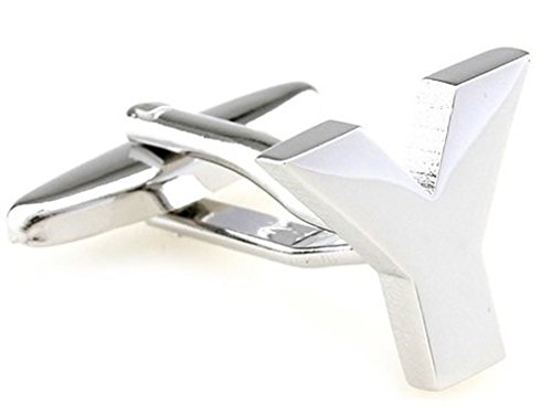 TEROON Cufflinks Lettre initiale 'Y' [Bouton - NON paire]
