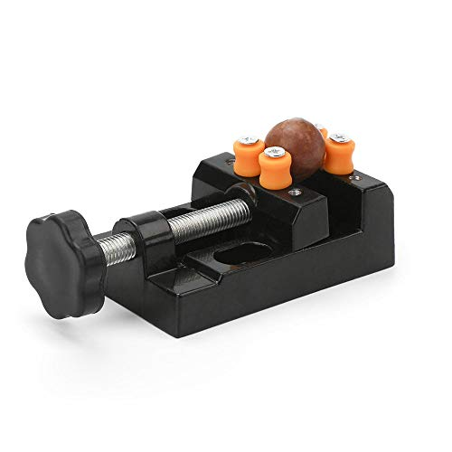 Yakamoz Universal Mini Drill Press Vise Clamp Table Bench Vice for Jewelry Walnut Nuclear Watch Repairing Clip On DIY Sculpture Craft Carving Bed Tool
