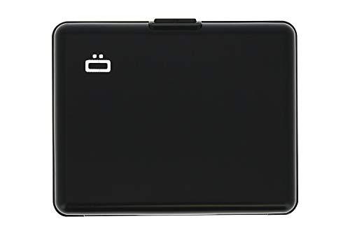 Ögon Smart Wallets -Big Stockholm Cartera Tarjetero - Protección RFID: Protege Tus Tarjetas de Robar - hasta 10 Tarjetas + Recetas + Notas - Aluminio anodizado (Negro)