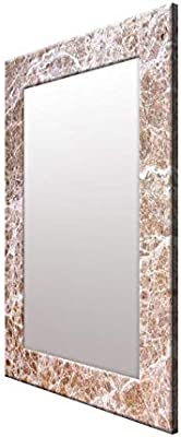 999Store Printed Brown Marvel Pattern Mirror