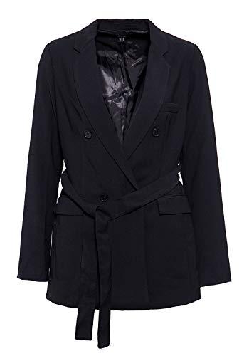 Mexx Damen Blazer Im Trenchcoat Design 2 Naht ärmel Jackenblazer Unifarben