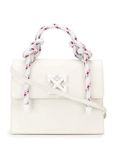 Luxury Fashion | Off-white Dames OWNA090R20H000680100 Wit Leer Handtassen | Lente-zomer 20