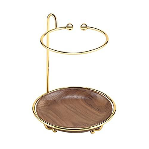 oshhni Expositor organizador de joyería cosmética con bandeja de madera para relojes de Perfumes