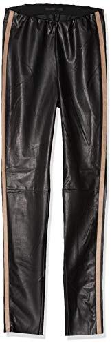 MAC Jeans Damen Legging Leather Galloon Straight Jeans, Black, W38/L32 (Herstellergröße: 38/32)