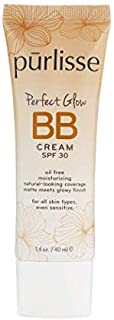 purlisse BB Tinted Moisturizer Cream SPF 30 - BB Cream for All Skin Types - Smooths Skin Texture, Evens Skin Tone - 1.4 Ounce (TAN)