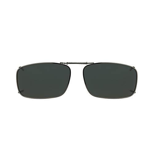 Dioptics unisex adult Haven-19 Rec Clip On Sunglasses, Gray, 56 mm US