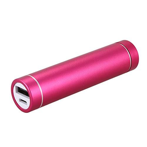Jaimenalin 2600mah Cargador De BateríA De La Caja del Banco De La AlimentacióN por USB PortáTil para El TeléFono MóVil(Sin Bateria) Rosa roja