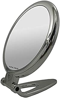 Puna Store 5X Magnifying Two Side Tabletop Hand Held Vanity Cosmetic Mirror (Silver)
