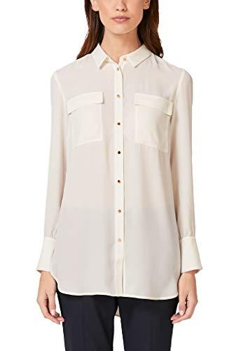 s.Oliver BLACK LABEL Damen 11.910.11.2600 Bluse, Elfenbein (Cream White 0220), (Herstellergröße: 36)