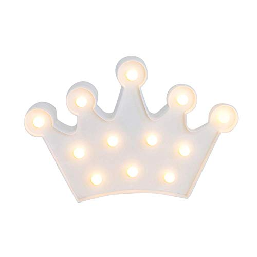 wangYUEQ Childs Night Light LED Dimora Nursery Baby Night Light Plastic Crown Paralume Luce Notturna for Bambini Luce Notturna for Camera da Letto Soggiorno Decorativo Blu (Color : White)