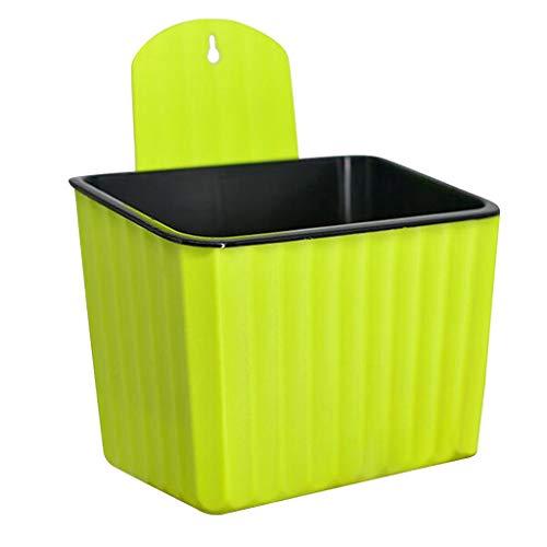 Homyl Pot à Eau Automatique Pot de Fleur Mural Panier Suspendus - Vert jaunâtre