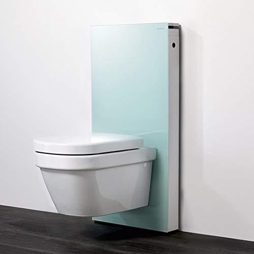 Geberit Monolith WC-Modul/Sanitärmodul für abgehängte Toilette, 101 cm, Mintglas (131.021.SL.5)
