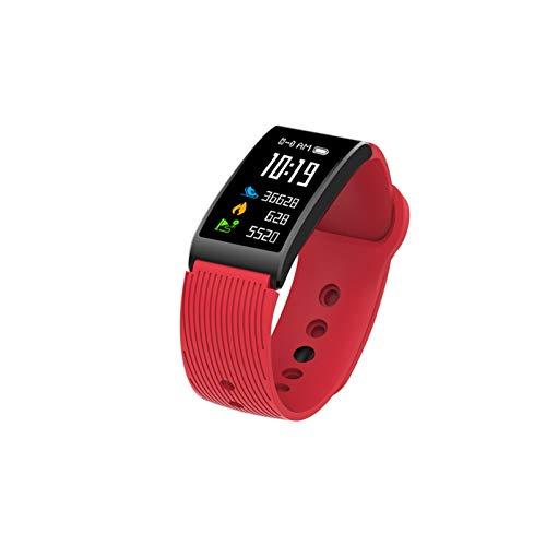 LYB Pulsera inteligente con monitor de sueño, monitor de frecuencia cardíaca, actividad de pantalla táctil para hombres y mujeres (color X3 rojo)