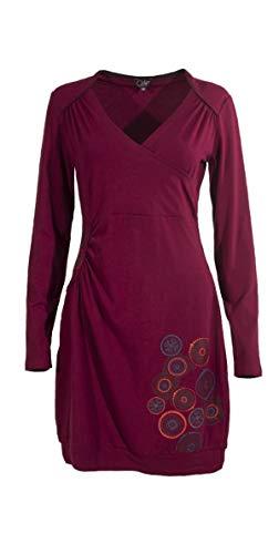 Coline Langarm Kleid Cache Herz (Himbeere, M)
