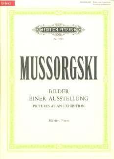 Afbeelding van een tentoonstelling - gearrangeerd voor piano [Noten / Sheetmusic] Component: MussORGSKI MODEST