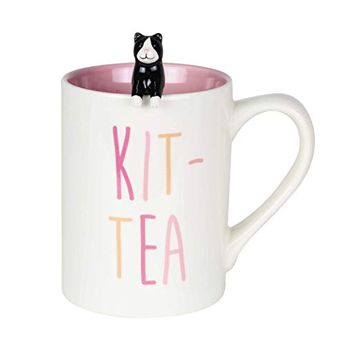 Kit-Tea Mug with Sculpted Spoon Set