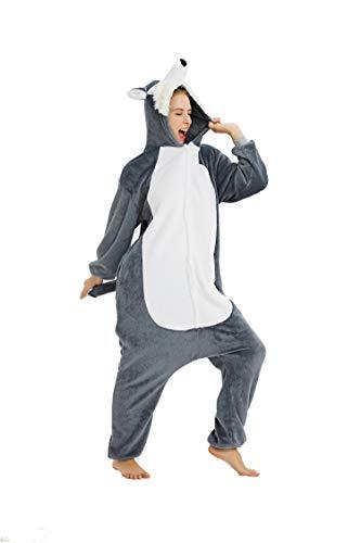 Pijama Animados Cosplay Mapache Unisex Dibujos Animal para Adulto