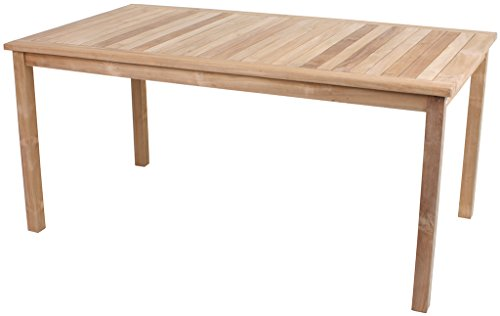 Gravidus Gravidus klassischer Gartentisch aus Holz, 160 x 90 cm