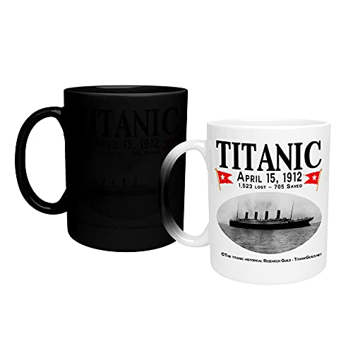 Color Changing Mug Titanic April 1912_TA338 Magic Heat Changing Coffee Mug - Funny Cup, for Office and Home Use Taza que cambia de color 325ml