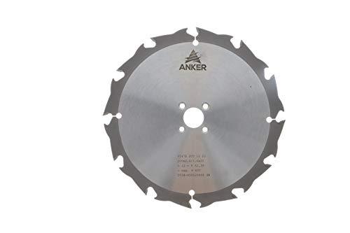 ANKER Hartmetall Kreissägeblatt 200 x 22,23 mm 12 Hartmetallzähne mit Wechselverzahnung für schnelle Schnitte in Holz, Kunststoff, Metall. Passend für Lamello Tanga Delta, Tanga Delta S2
