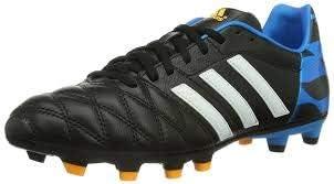 adidas 11Nova FG J Black/Blue Size 4.5y