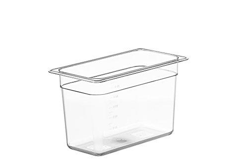 LIPAVI Cubeta sous vide modelo C5 – 6,6 litros | 32,3 x 17,7 x 20 cm | Policarbonato transparente y fuerte. Tapas* a juego para Anova, Wankel y más. Rejilla de L5* *Se vende por separado