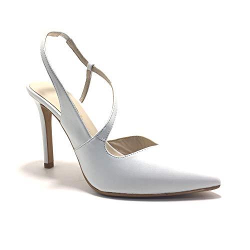 LODI VENERDO, Zapatos de Novia, Puntera Cerrada, Color Blanco Roto, de tacón, para Mujer.