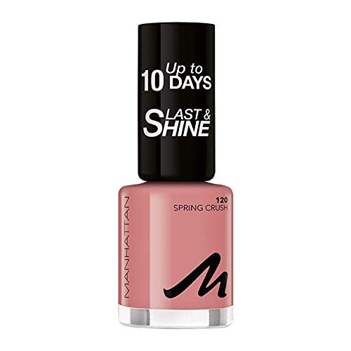 Manhattan Last und Shine Nagellack, Nr.120 Spring Crush, 8 ml