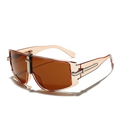 Gafas Vintage Gafas de Sol Mujeres Lujo Steampunk Gafas de Sol para Hombres Eyewear Fashion Friend Frames Borrar Lentes Sombras UV400 (Color : 4, Size : G)