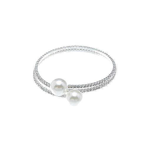 Hinleise Pulsera de perlas de múltiples capas para mujer, pulsera de moda, regalo de joyería para mujeres
