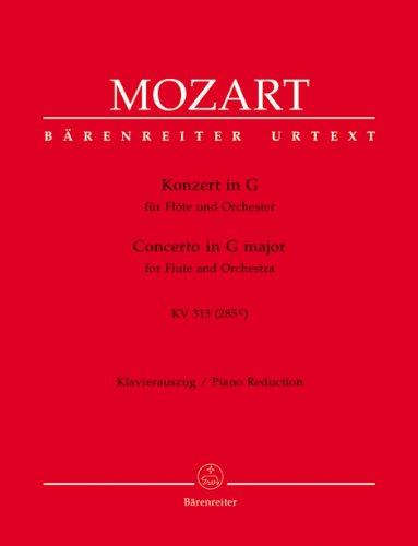 Konzert für Flöte und Orchester G-Dur KV 313 (285c). Klavierauszug, Urtextausgabe