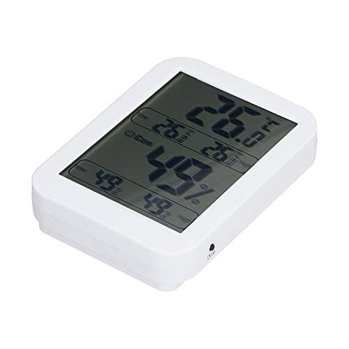 Wosune Termoigrometro Digitale, termoigrometro termoigrometro Digitale ad Alta precisione a Grande Schermo per Bambini per Anziani