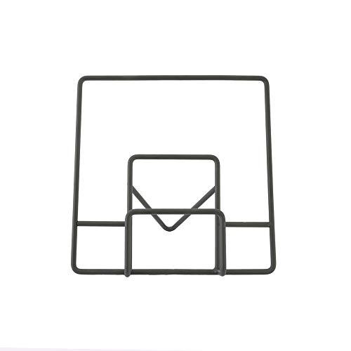 Une 'domo Pv-chr-3182 Point-Virgule Fil support pour livre de cuisine 30 x 16 x 29.5 cm, EN ACIER, Noir