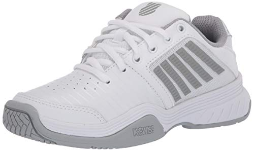 K-Swiss Court Express Womens Tennis Shoe (White/Highrise/Silver, 8)