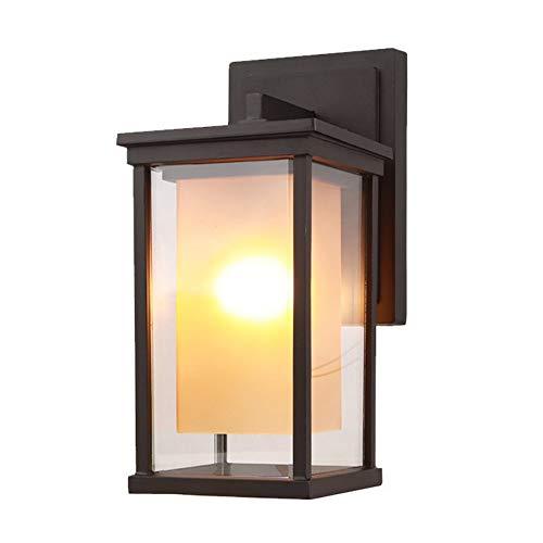 Laytter Lámpara de pared exterior simple Lámpara de protección solar europea a prueba de lluvia Lámpara de pared moderna al aire libre Pasillo de balcón Pasillo Soporte de paisaje Panel de luz