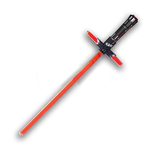 Lightsaber Sable De Luz Rojo De Star Wars, Espada De Juguete para Niños, Cosplay De Fiesta Navideña para Adultos, con Luces, Sonidos Y Frases