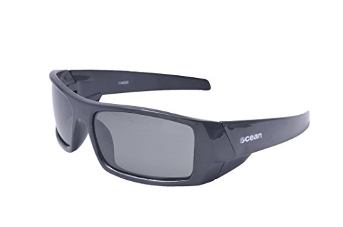 Ocean Sunglasses Hawaii - Gafas de Sol polarizadas - Montura : Blanco Brillante - Lentes : Ahumadas (11400.2)