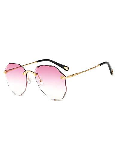 CCKK Gafas De Sol De Moda para Mujer, Gafas De Océano con Adornos De Diamantes, Poligonales, Muchos Colores, Bloqueo De Luz, Sin Receta, Reduce La Fatiga Visual